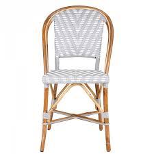 Grey Bistro Chairs Grey White Mediterranean Bistro Back Chair Chevron