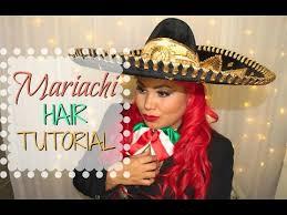 mariachi hairstyles mariachi hair tutorial easy youtube