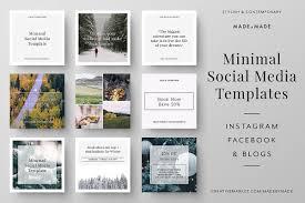 social media brochure template minimal social media templates by made design bundles