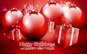 merry christmas and happy new year greeting card christmas