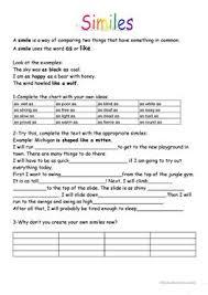 24 free esl similes worksheets