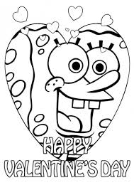 spongebob valentines coloring pages valentine coloring pages