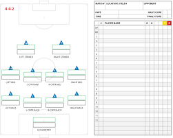 Stat Sheet Template Soccer Formations And Systems As Lineup Sheet Templates Brant Wojack