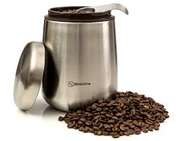 blinkone coffee canister with magnetic spoon