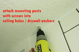 install a ceiling mounted shower