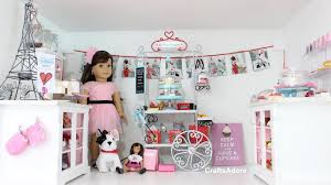 Dollhouse Bed For Girls by American Doll House Room Tour Grace U0027s Little Bakery Set Up