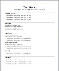 free basic resume template simple resumes templates basic resume template free