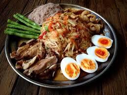 cuisine i ส มตำถาดอ สานรสแซบ แจ มจร ง bilde av sapa vietnameseand isan