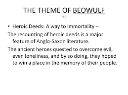 themes of beowulf poem beowulf epic notes an epic is pg 1 sometimes called a heroic poem