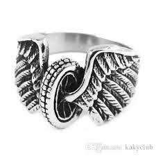 tire wedding rings eagle wings motorcycles tire biker ring stainless steel jewelry