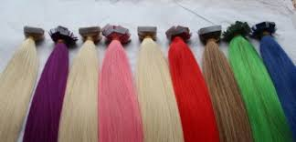 Red Tape Hair Extensions by Pre Tape Hair Extension