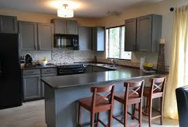 paint oak kitchen cabinets painting oak cabinets grey miketechguy com