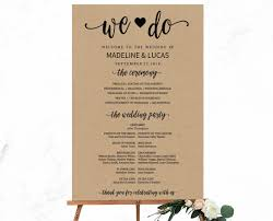 wedding program sign rustic we do calligraphy wedding program sign template jpg v 1500960254