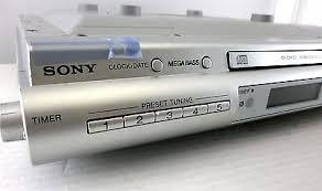 Kitchen Radios Under Cabinet Sony Icf Cdk50 Under Cabinet Kitchen Cd Player Clock Radio Am Fm
