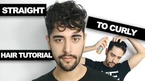 same haircut straight and curly straight to curly hair how to get curly hair men s hair tutorial