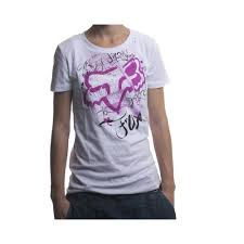 fox motocross t shirts camiseta chica fox racing opulence crew wh comprar online