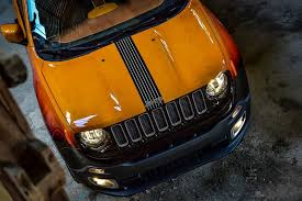 jeep renegade orange jeep renegade twins get custom paint for montreux jazz festival
