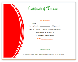 red training certificate template certificates pinterest