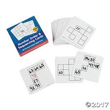 erase number order sequencing cards