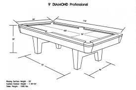 9 foot pool table dimensions the professional drop pocket table