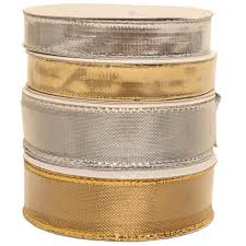 wire edged ribbon gold silver wire edged ribbon jam paper