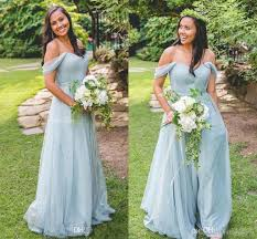 cheap light blue bridesmaid dresses 2018 cheap light blue a line bridesmaid dresses off shoulder