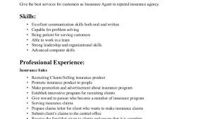 Insurance Sales Resume Examples by Insurance Agent Resume Examples Objective Skills And Professional