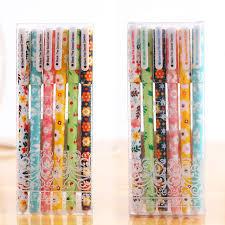 papeterie de bureau 6 pcs ensemble couleur gel stylo motif étoilé mignon