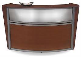 Wood Reception Desk Wooden Reception Desk Cherry Single Curved Unit