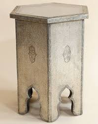 Moroccan Side Table White Metal Bone Encrusted Moroccan Side Table Moroccan Bazaar