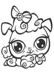 littlest pet shop dog crown littlest pet shop coloring