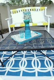 Outdoor Round Rug by Stenciled Circle Rug Tutorial