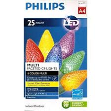 150 led c6 lights amazon com philips 200ct multi led faceted c6 string christmas