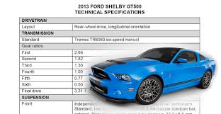 2013 shelby gt500 mustang 2013 shelby gt500 specifications mustangs daily