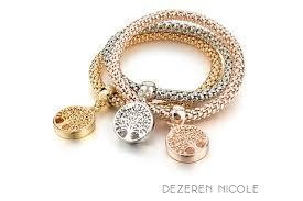 rhinestone bracelet charms images Tree of life austrian crystal rhinestones charm bracelet dezeren jpg