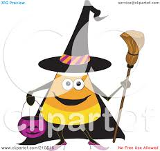 Royalty Free Rf Clipart Illustration Of A Halloween Candy Corn