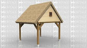 Building An Attached Carport Traditional Single One Bay Oak Framed Garages Made With Green Oak