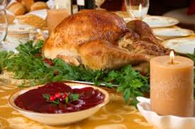 meals roast turkey and cranberry sauce american
