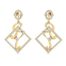 diamond earrings india the delna square earrings diamond earrings at best prices in