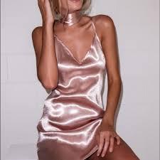 silk dresses dresses skirts gold satin silk choker slip on dress