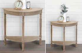 half round console table reclaimed wood half round console table rustic farmhouse decor