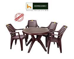 Kisan Elegant Round Dining Table Set 1 4 Brown Homegenic