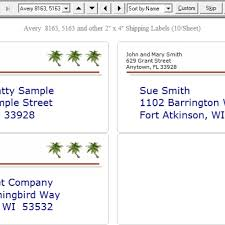 ez address book label software intended for template avery 8163