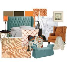 orange blue and brown living room u2013 modern house