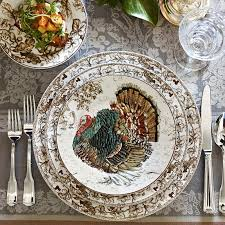 plymouth turkey dinnerware collection williams sonoma