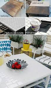 tile table top makeover awesome and low budget ways to re purpose old furniture subway