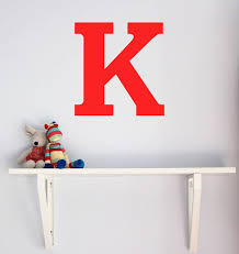 Wall Decal Letters For Nursery Large Letter Wall Sticker Chip Notonthehighstreet Intended