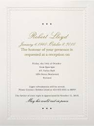 reception invitation wording casual wedding invitation wording 39 best funeral reception
