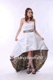 wholesale and retail chic sweetheart asymmetrical white camo