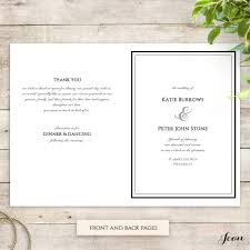Wedding Program Order Modern Order Of Service Printable Template With Border Connie U0026 Joan